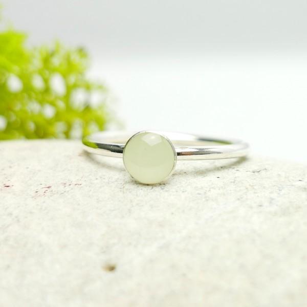 Minimalistischer kleiner Sterling Silber Ring mit Phosphoreszentes Harz  NIJI 25,00€