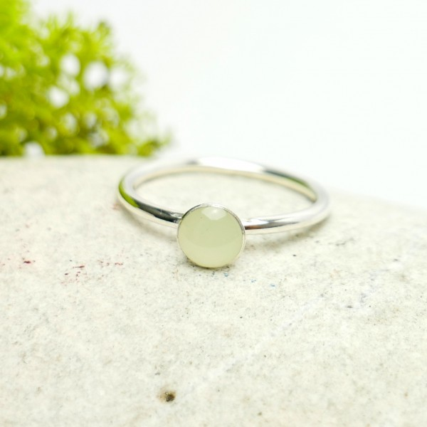 Little sterling silver ring with phosphorescent resin NIJI 25,00 €