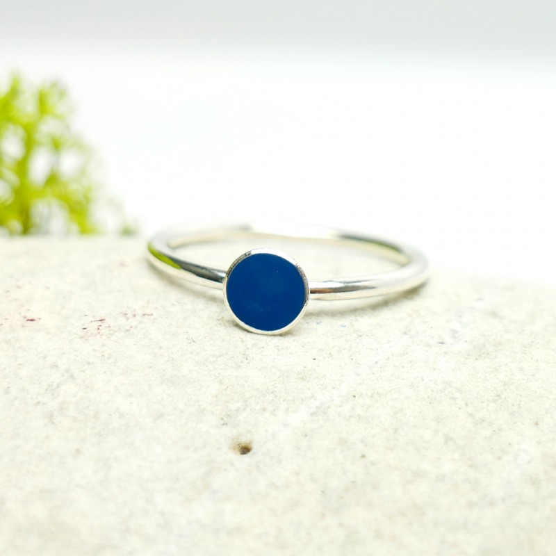 Little sterling silver ring with blue resin NIJI 25,00 €