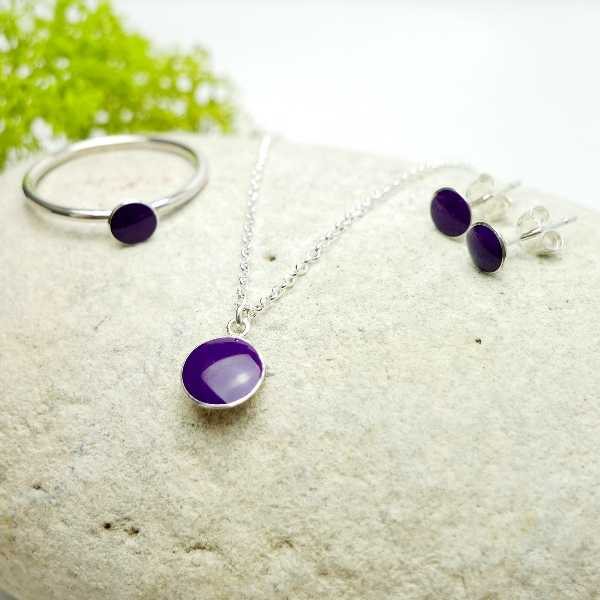 Little sterling silver ring with violet resin  NIJI 25,00 €