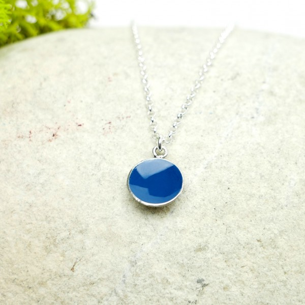 Sterling silver blue pendent with chain Desiree Schmidt Paris NIJI 27,00 €