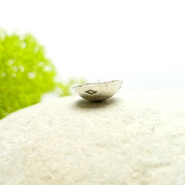 Collier en argent et or massif Perle de Pluie