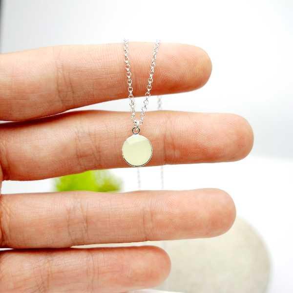 Sterling silver phosphorescent pendent with chain Desiree Schmidt Paris NIJI 21,60€