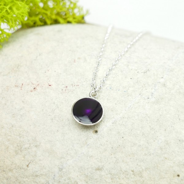 Sterling silver dark purple pendent with chain Desiree Schmidt Paris NIJI 27,00 €
