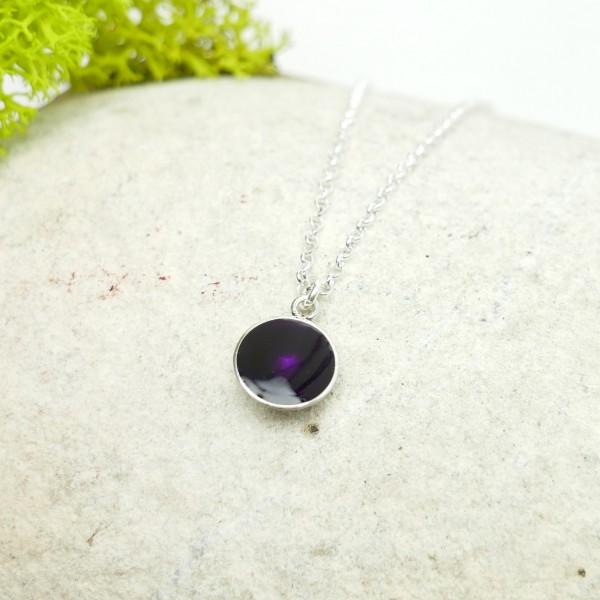 Sterling silver dark purple pendent with chain NIJI 27,00€