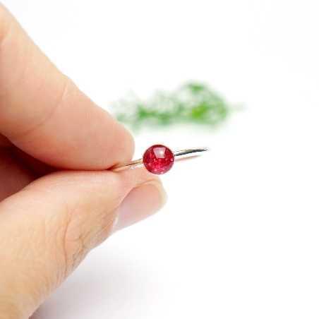 Petite bague empilable rose pailleté en argent 925 collection Niji NIJI 25,00€