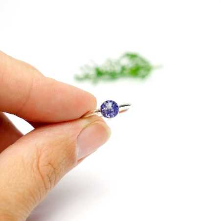 Little sterling silver ring with purple sequined resin  NIJI 25,00€