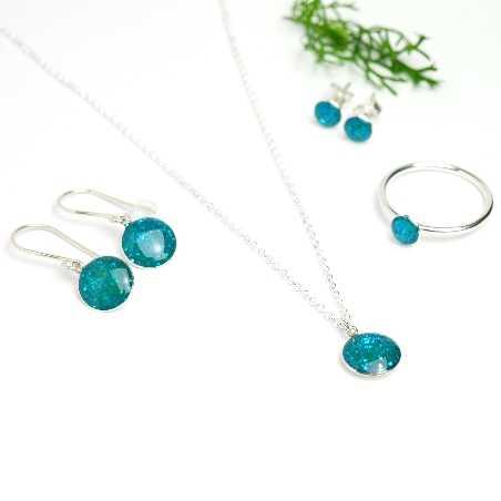 Valentine pendant earrings. Sterling silver.