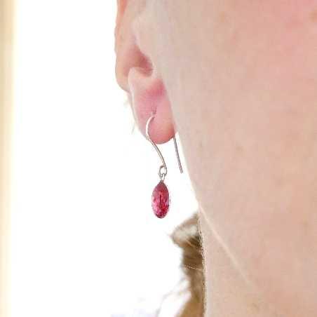 Adjustable sterling silver Shinju bead necklace