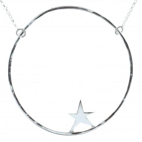Très grand collier étoile Nova en argent massif Nova 77,00€