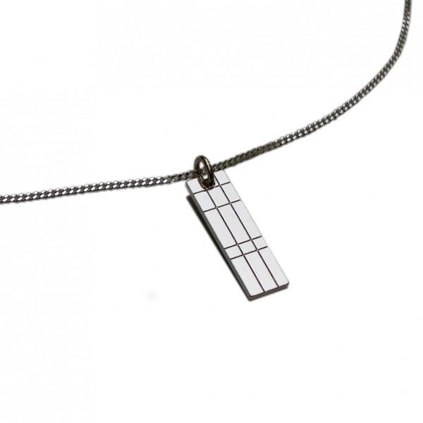 Kleine rechteckige Kiltkette aus Sterlingsilber 925/1000 Desiree Schmidt Paris Kilt 45,00€