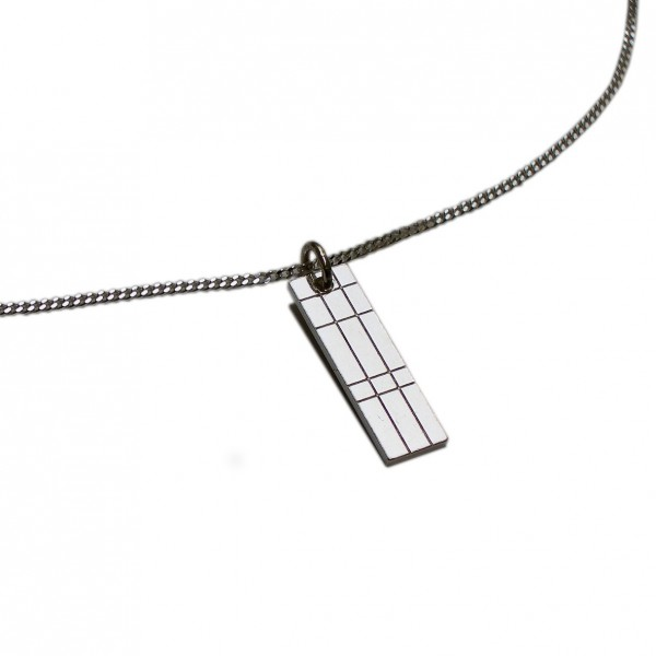 Small rectangular Kilt necklace in sterling silver 925/1000 Desiree Schmidt Paris Kilt 45,00 €