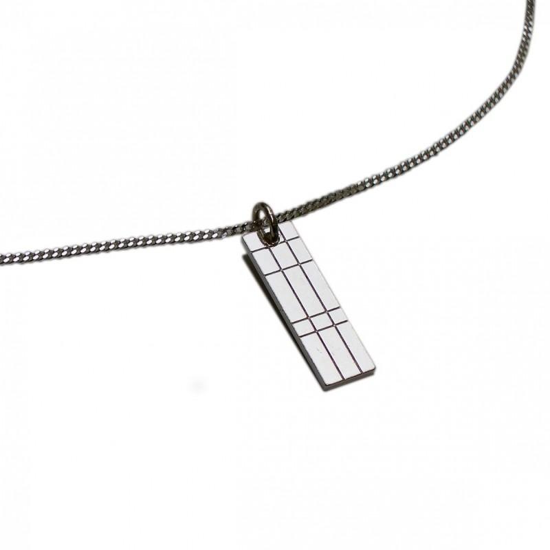 Small rectangular Kilt necklace in sterling silver 925/1000 Desiree Schmidt Paris Kilt 45,00€