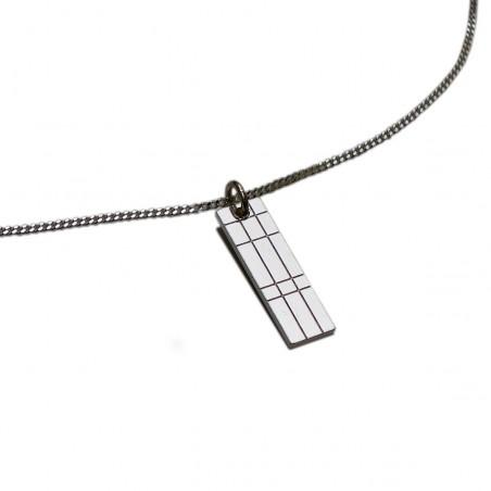 Petit collier rectangulaire Kilt en argent massif 925/1000 Desiree Schmidt Paris Kilt 45,00€