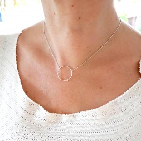 Zweig lange Ohrringe aus Sterling Silber