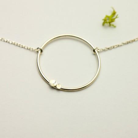 Minimalist sterling silver Lemna necklace Desiree Schmidt Paris Lemna 27,00€