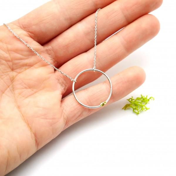 Zweig Halskette aus Sterling Silber Eda