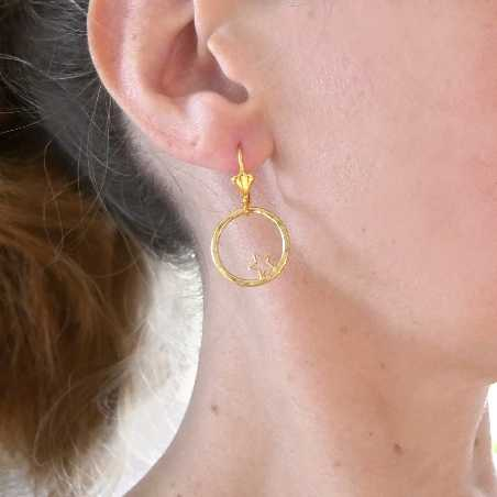 Nova star earrings. Fine golded bronze.  Nova 57,00 €