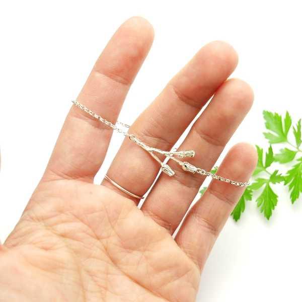 Bracelet 3 fleurs en argent 925/1000  Herbier 65,00€