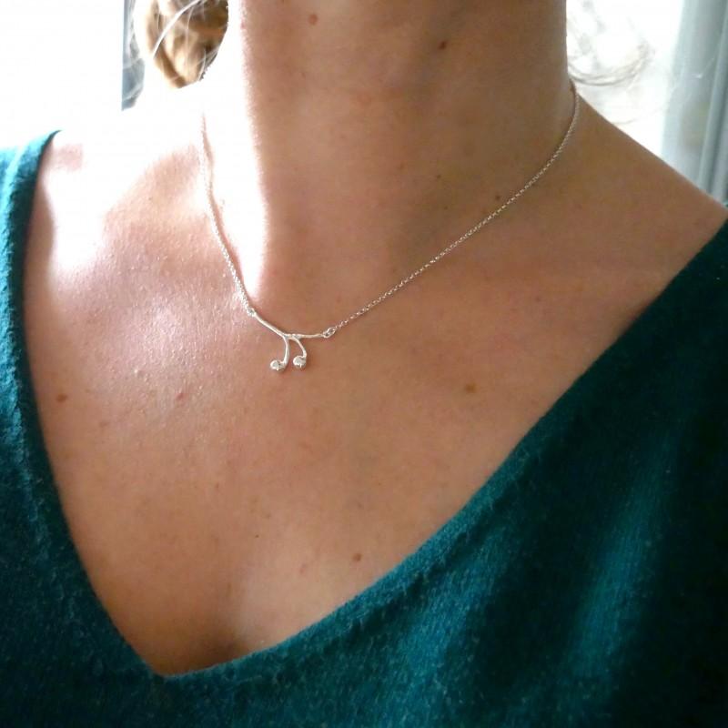 Solanum sterling silver ajustable necklace Desiree Schmidt Paris Home 65,00€