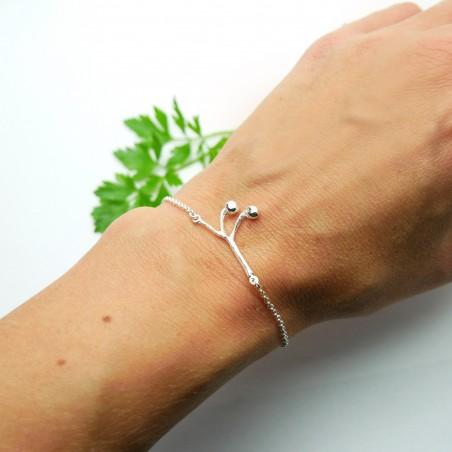 Bracelet Solanum en argent 925/1000  Accueil 65,00€