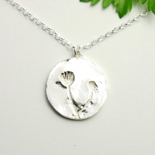 Sterling silver wildflowers pendant on chain  Herbier 57,00 €