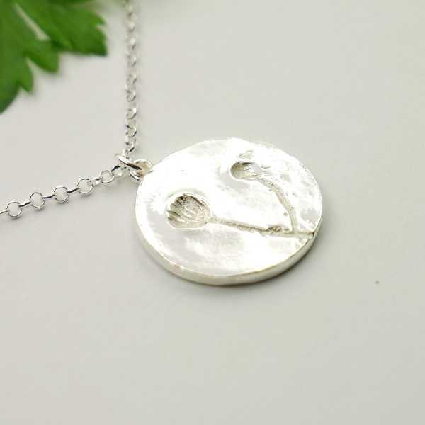 Kleiner Bronze Sakura Blume Sterling Silber Ring Sakura