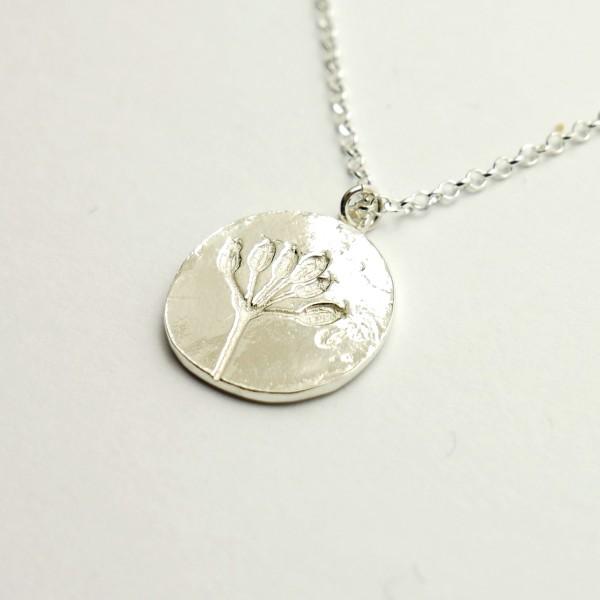 Kleine Sakura Kirschblume Armband aus Sterling Silber und Bronze Sakura