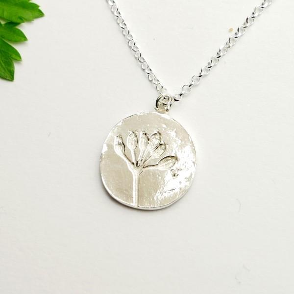 Sterling silver wildflowers pendant on chain Desiree Schmidt Paris Herbier 57,00€