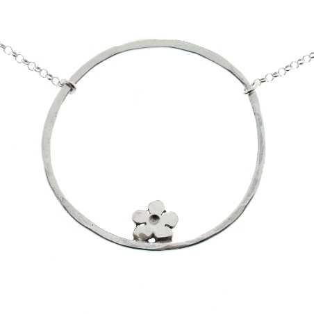 Prunus flower necklace. Sterling silver.  Prunus 59,00€
