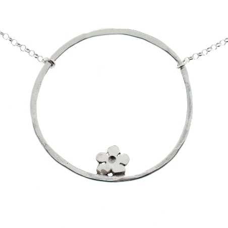 925/1000 silver cherry blossom pendant necklace made in France Prunus 57,00€