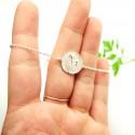 Kleine Litchi Halskette aus Sterling Silber Litchi