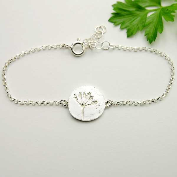 Small Litchi sterling silver adjustable necklace
