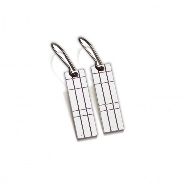 Kilt small pendant earrings. Sterling silver.  Kilt 57,00 €