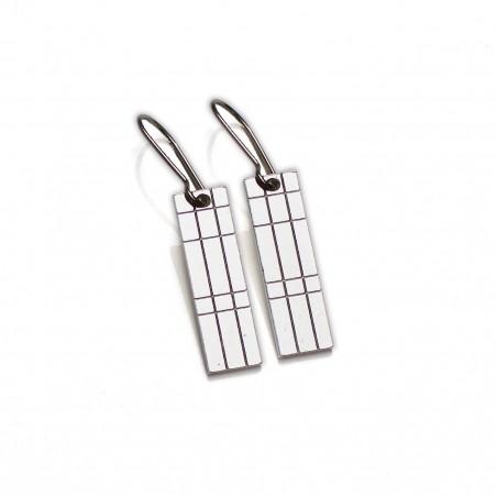 Petites boucles d'oreilles pendantes Kilt en argent massif  Kilt 57,00€