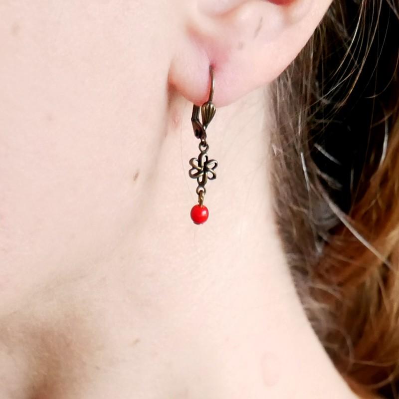 Boucles d'oreilles pendantes en bronze vieilli Basic 15,00€