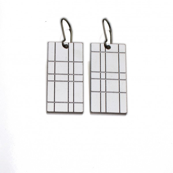 Kilt large pendant earrings. Sterling silver.  Kilt 67,00 €
