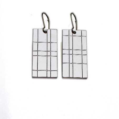 Kilt large pendant earrings. Sterling silver.  Kilt 67,00€