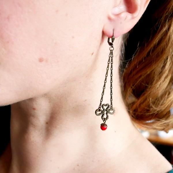 Boucles d'oreilles pendantes en bronze vieilli Basic 27,00€