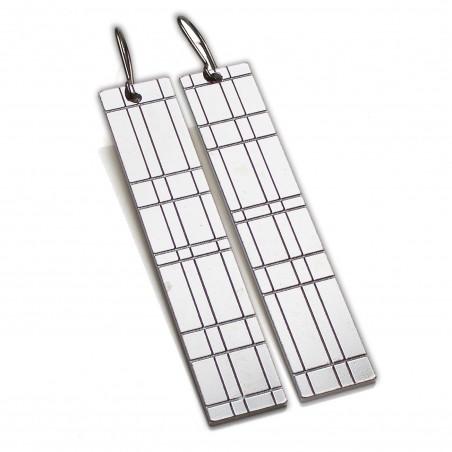 Kilt long pendant earrings. Sterling silver. Kilt 97,00€