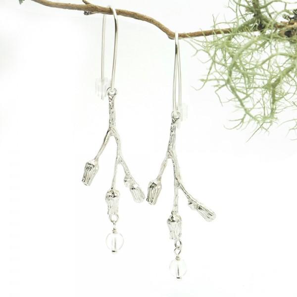 Drei Blumen Sterling Silber Ohrringe Startseite 85,00€