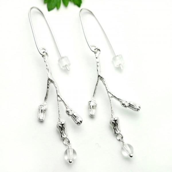Three flowers sterling silver earrings Home 85,00€