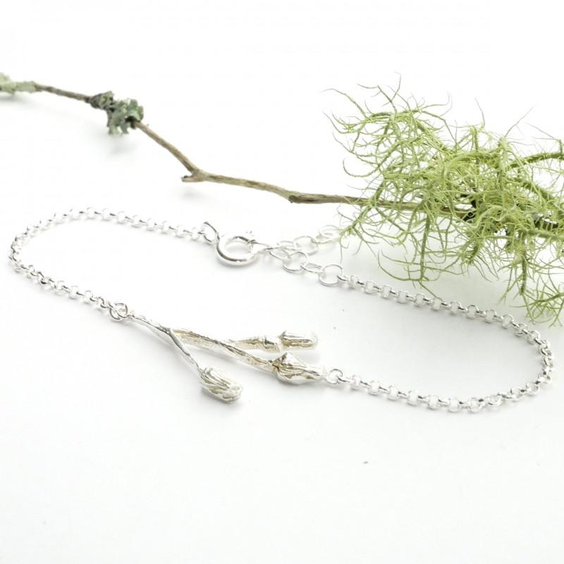 Drei Blumen Sterling Silber Armband  Herbier 65,00€