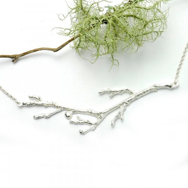 Zweig Halskette aus Sterling Silber  Eda 87,00€
