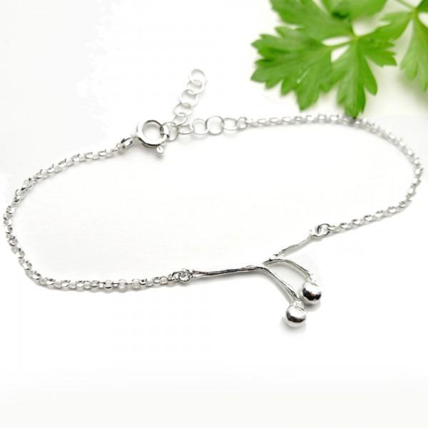 Solanum sterling silver ajustable bracelet  Home 65,00€