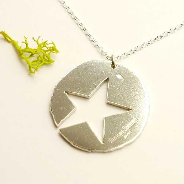 Star pendant on chain. Sterlin silver.  Star 77,00€