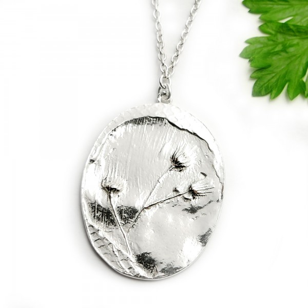 Sterling silver wildflowers pendant on chain Herbier 87,00 €