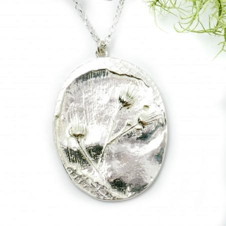 Sterling silver wildflowers pendant on chain Desiree Schmidt Paris Herbier 87,00€