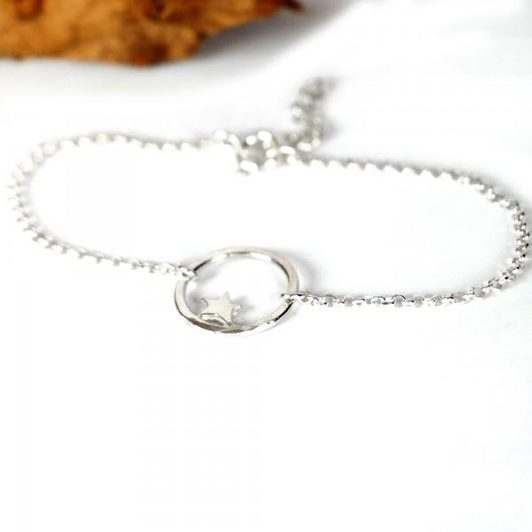 Petit bracelet étoile Nova en argent massif  Nova 37,00€