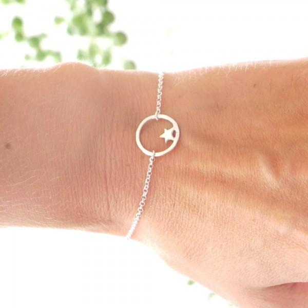 Kleiner Sterling Silber Stern Armband Nova 37,00€
